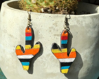 Serape Collection Saguro Earrings | Leather Earrings | Birthday Gift | Anniversary | Gifts under 25 | Handmade | Gifts for Her