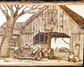 Old Barn - Old Roadster