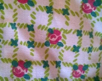 Small print fabric roses 177 x 78