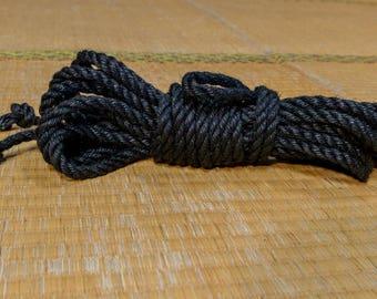 Jute Rope for Shibari Kinbaku - Advanced Kit of Black Coloured Rope