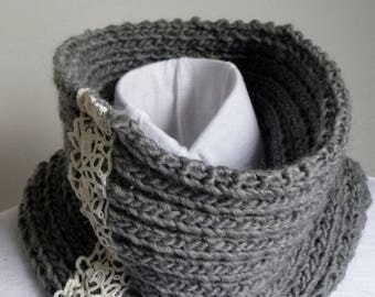 Grey Snood and old lace