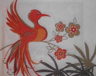 087 bird napkin