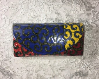 African print clutch bags