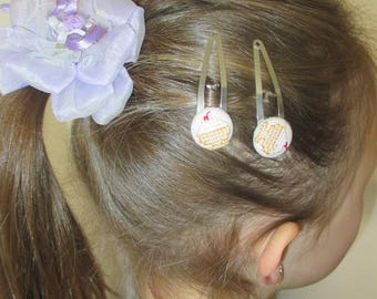 "Embroidered hair Duo ""Cup of ice"""