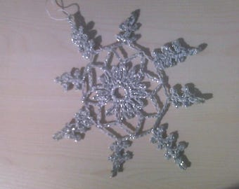 Ice Crystal entirely handmade crochet