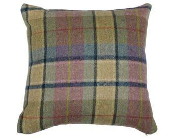 Gargrave Heather Tweed Wool Plaid Checked Tartan Cushion Cover