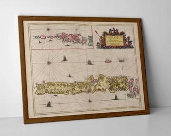 The Uists and Barra - Old Map of North Uist, Antique Map of South Uist, Vintage Map of Barra in the Outer Hebrides of Scotland | Eriskay