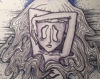 Celestial Confustion Inktober Print
