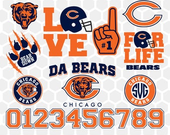 Chicago Bears SVG, Chicago Bears Files, Instant Download Football Files, Cricut, Cameo, Vinyl Machine, DXF EPS png jpg pdf - 014