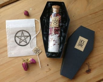 Rose Bath Potion - Bath Potion - Dead Sea Salt - Rose - Healing - Cleansing - Witchcraft - Bath Set - Bath Gift - Pagan - Ritual - Bath