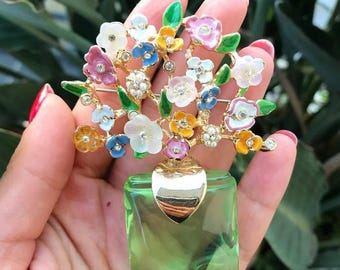 Spring calling' vintage brooch from 60's!