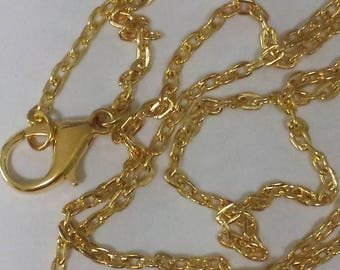 1 necklace gold plated 55cm trace chain - 3x2.5mm