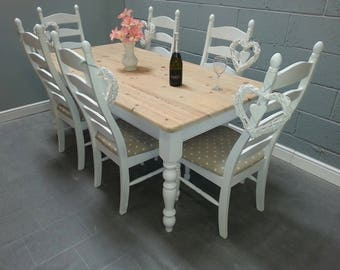 Lovely 6ft Shabby Chic table set
