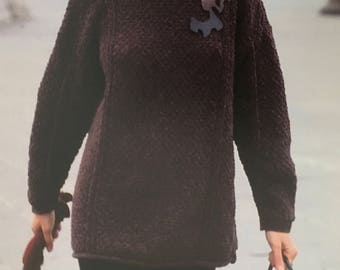 PDF Knit Moss-Stitch Pullover (EASY)