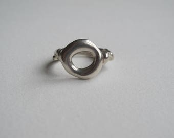 Stirling Silver Doughnut Ring