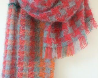 Handwoven mohair blanket
