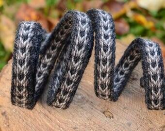 Handwoven band / Wool weaving / Medieval pattern / Viking tablet weaving / Belt for woomen / Belt for men / 18 mm strap /Price for 1 meter
