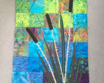 Bull Rushes wall hanging