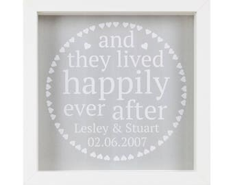 Framed Personalised 'Happy Ever After' Wall Art
