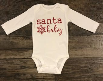 Baby girls shirt- Christmas onesie
