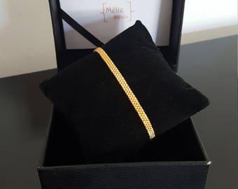 Gold plated beaded bracelet
