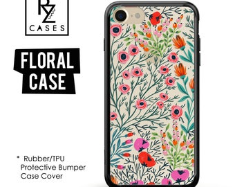 Floral Phone Case, iPhone 7 Case, Flower Phone Case, iPhone 6s Case, Floral iPhone Case, iPhone 5 Case, Rubber Case, Bumper Case