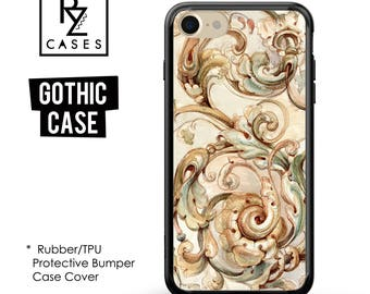 Vintage Phone Case, Floral Phone Case, Gothic Phone Case, iPhone 7 Case, iPhone 6s Case, iPhone 5 Case, Rubber Case, Bumper Case