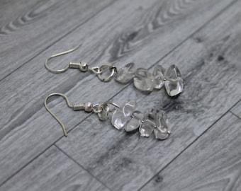 Clear Quartz Earrings, Clear Quartz Jewelry, Clear Quartz Healing Crystal, Healing Crystals, Quartz Gemstone Earrings, Healing Earrings