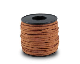 1 m color cognac brown suede cord