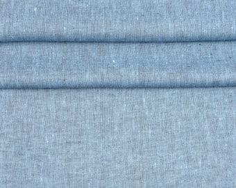 100% Linen Fabirc melange, softened. Linen Fabric for clothing 1 meter