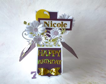 Birthday Cards - Birthday wishes - Birthday greetings - Handmade cards - birthday explosion card - personalized upon request