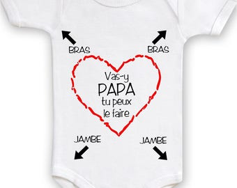 Bodysuit come on Daddy you can do birth for apprentice dad gift idea