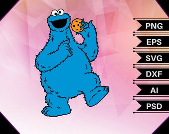 Cookie Monster svg,sesame street svg,cookie vector,sesame street vector,cookie monster shirt,cookie monster decal,cookie monster gift