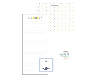 Set of Notecards + Notepads + Gift Stickers