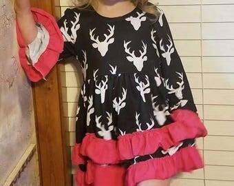 Pink/ Black Deer Dress
