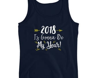 New Years shirt | Cheers | New Year's Eve shirt | NYE shirt | 2018  shirt | new year shirt | Ladies' short sleeve t-shirtLadies' Tank