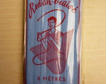 OLD RIBBON BIAS 5 METERS WIDTH 12.5 MM FILLAUVANT