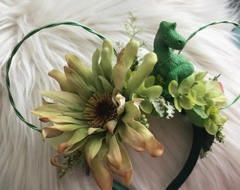 Rex Toy Stroy theme Flower Crown ears