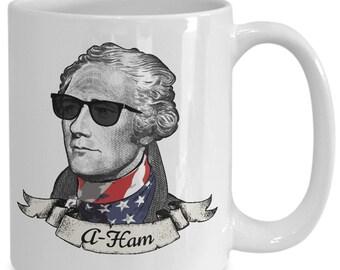 A-Ham Patriotic Mug | Alexander Hamilton Coffee Mug