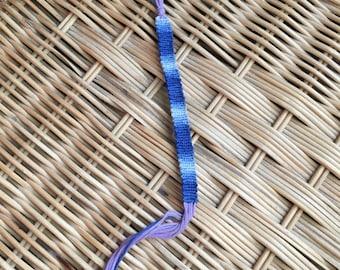 Blue ombre macramé bracelet