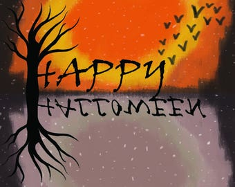 Upsidedown Halloween Greetings