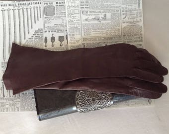 Vintage womens Italian Leather Gloves
