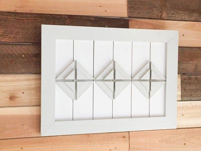 Farmhouse Nursery Art, Rustic Modern Art, 3D Framed Art, Geometric ...