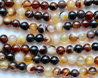 6mm coffee Agate, full strand, natural stone beads, round, 60028