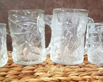 Collectible Batman Forever Glass Mug Set