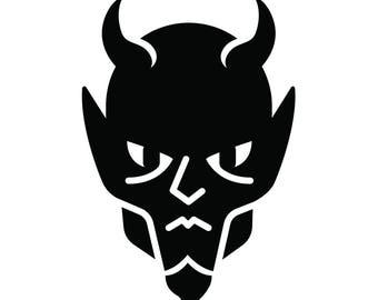 Devil vinyl decal goth metal punk american traditional tattoo satan lucifer