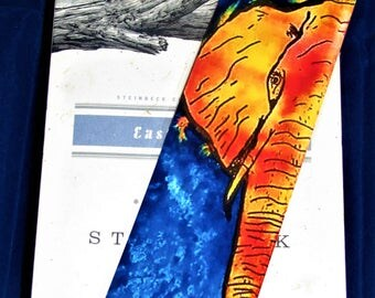 Elephant Bookmark ~ Laminated ~ Colorful ~ Watercolor