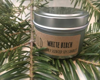 White Birch 2 ounce Soy Candle