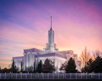 Mount Timpanogos Temple at Sunset Digital Download