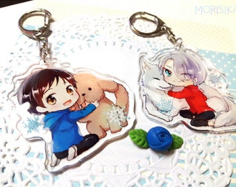 YOI Yuri On Ice!!! YOI 2.4 inch Double-sided Clear Acrylic Charms